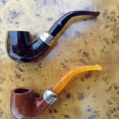 "Peterson´s Dublin Ashford Sterling Silver 221 (Arriba) y Peterson´s ""Kapp Royal"" Sterling Silver 1 (Abajo)."
