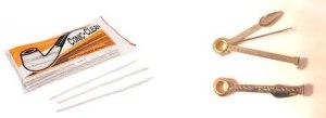 Escobillas de limpieza y Atacador.  Instrumentos de limpieza indispensables para el cuidado de la pipa.